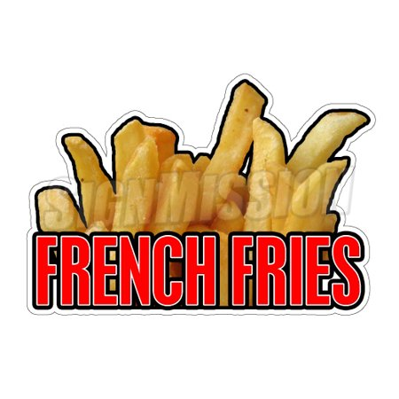 FRENCH FRIES I Concession Decal sign fry oil cart trailer stand