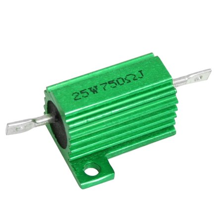 25W Power 750 Ohm 5% Chassis Mount Green Aluminium Clad Resistor