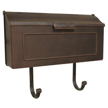 Horizon Horizontal Mailbox in Copper