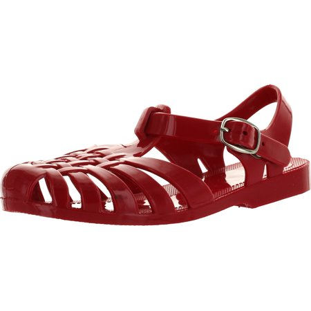 Kali Footwear Angel Jr Girls Summer Retro Jelly Fisherman Water Shoes Kids JR Strappy Gladiator Sandals, Red, 9