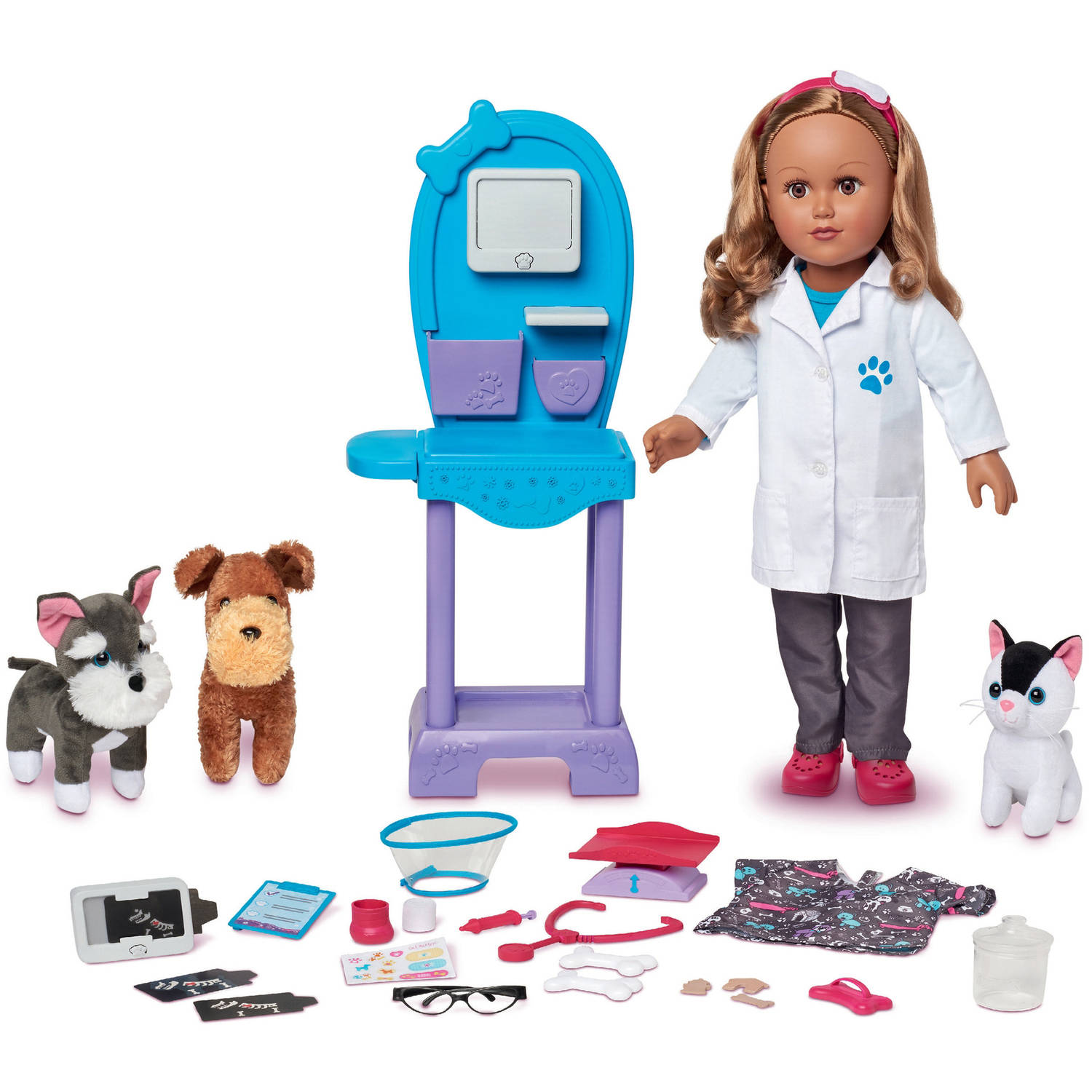 "My Life As 18"" Doll of the Year Vet Doll Play Set, Hispanic"