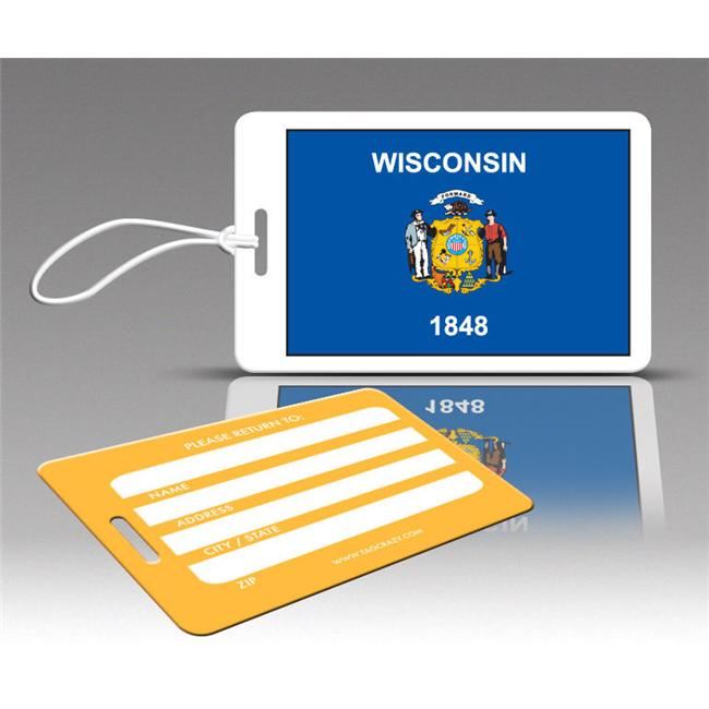 Insight Design 770805 TagCrazy Luggage Tags- Wisconsin- Set of Three