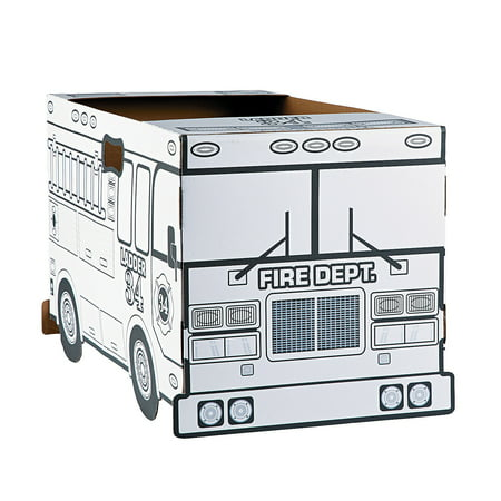 Cyy Halloween Party (Fun Express - Cyo Fire Truck Box Costume 1 pc - Craft Kits - CYO - Paper - Misc CYO - Paper - 1)