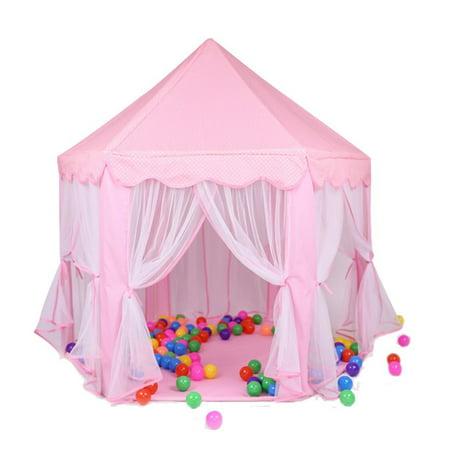 children play tent besuntek pop up princess castle playhouse for boys girls toddlers indoor. Black Bedroom Furniture Sets. Home Design Ideas
