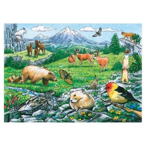 Outset Media Games OM58806 Rocky Mountain Wildlife Tray Puzzle 35 pcs