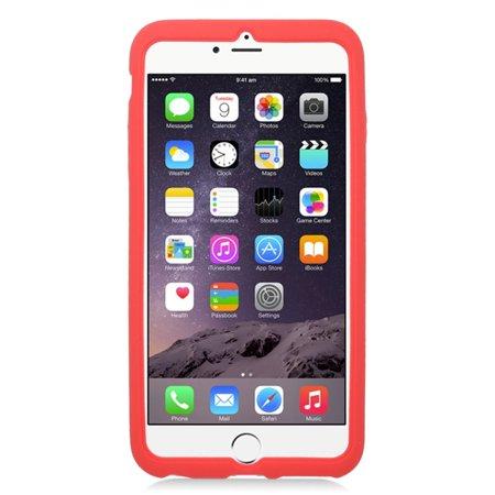 Insten Soft Rubber Case For Apple iPhone 6s Plus / 6 Plus - Red - image 1 de 3