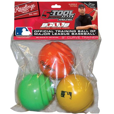Official MLB Curve Training Baseballs 3-Pack By (Rawlings Official Mlb)