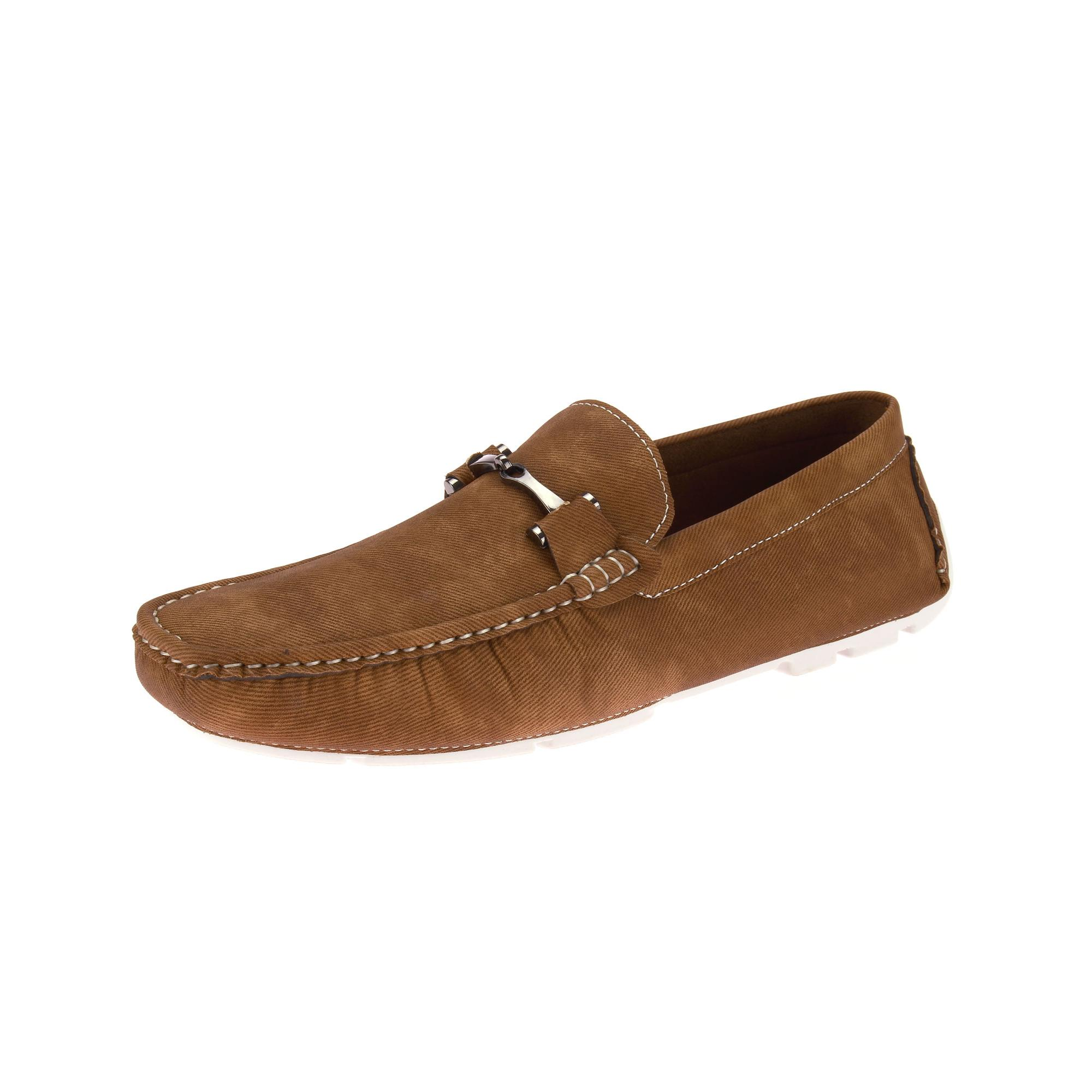 Fashion Summer Soft Moccasins Men Loafers Genuine Leather Flats Driving Shoes Light Brown 12M US