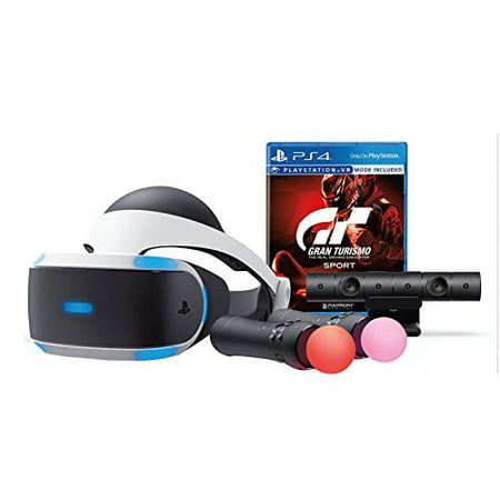 Playstation Vr Bundle  2 Items   Gran Turismo Sport Bundle And Playstation Move Motion Controllers   Two Pack
