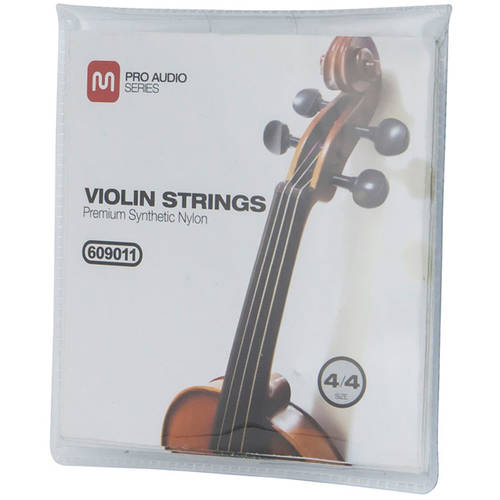 MONOPRICE Violin Strings, Premium Synthetic, Size 4 4 by Monoprice