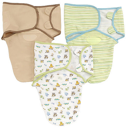 Summer Infant SwaddleMe Adjustable Infant Wrap 3-Pack, Mom & Baby