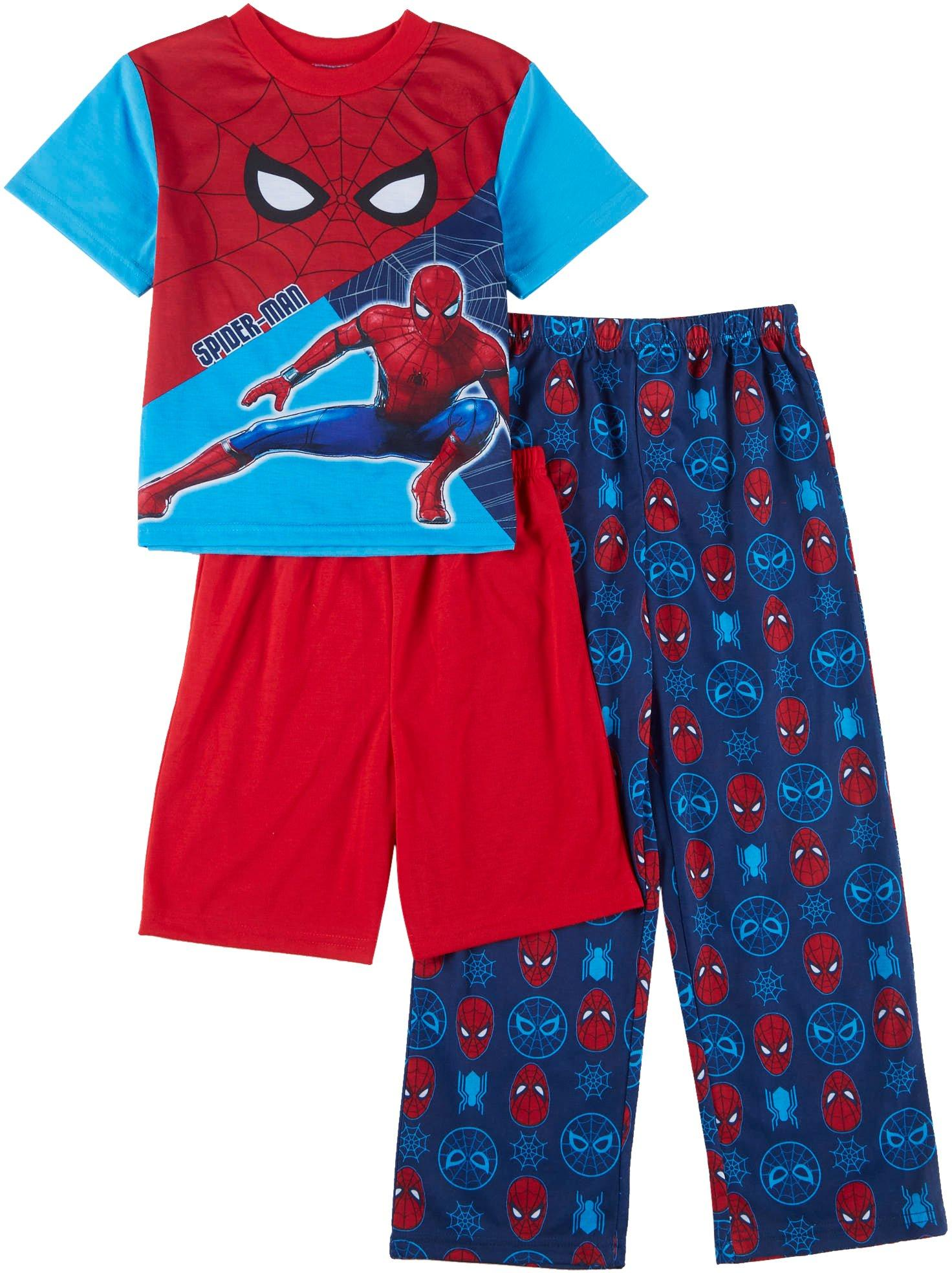 Disney Store Marvel Spider-man Boy 2PC Long Sleeve Tight Fit Pajama Set 6 7
