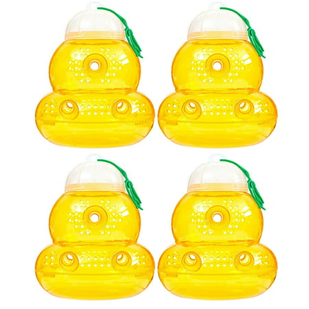 BeLü Wasp/Bee Traps Jar, Hornet/Yellow Jacket Trap, Reusable Eco-Friendly, 4 Pack