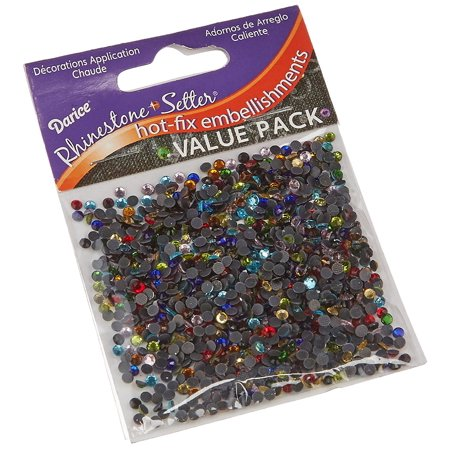 Rhinestone Setter Hot-Fix Embellishments 3mm 1000/Pkg: Multi, Contains 1,000 pack of 3mm Rhinestone setter Hot-Fix Embellishments By Darice