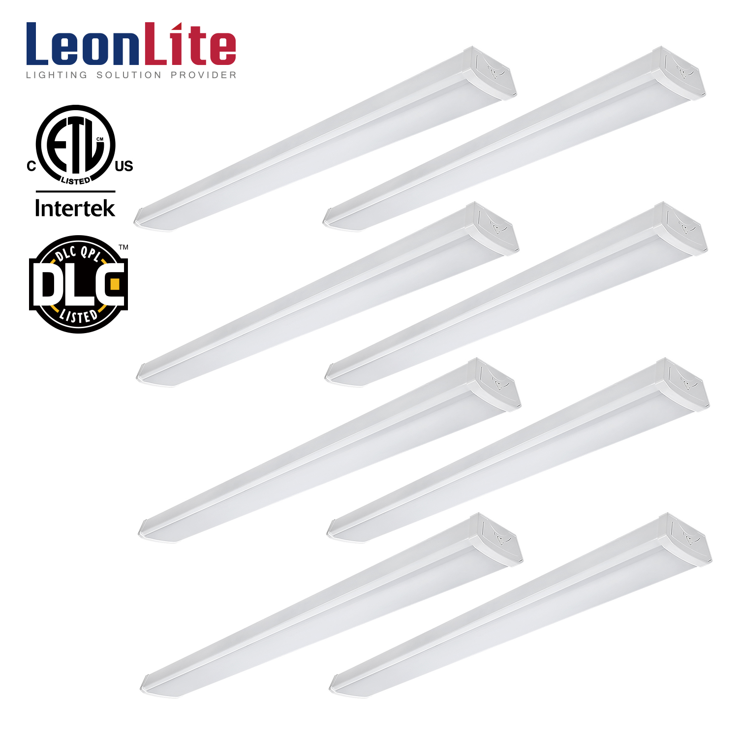 LEONLITE 8 Pack 4ft 40W LED Utility Shop Light For Garage