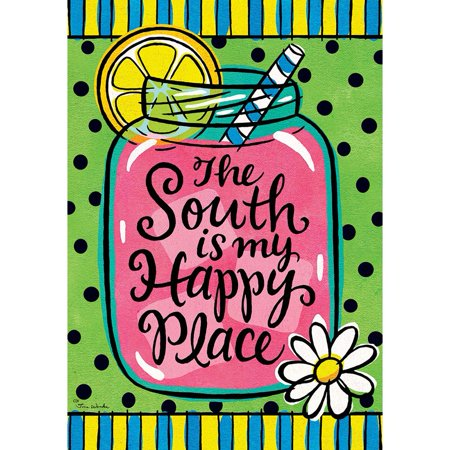 Image of Custom Decor House Flag - The South is My Happy Place
