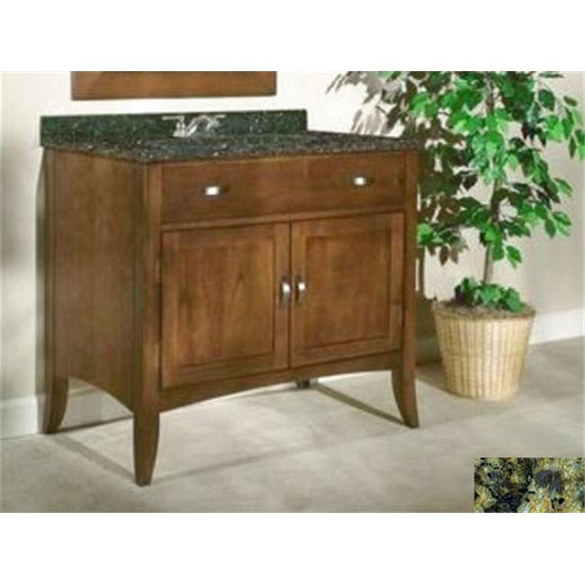 Kaco International 385-3000-GN Metro 30 inch Vanity with a Brown Cherry Krylon Finish and Green Granite Top
