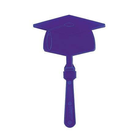 Fun Express - Purple Mortar Board Clapper for Graduation - Toys - Noisemakers - Hand Clappers - Graduation - 12 Pieces