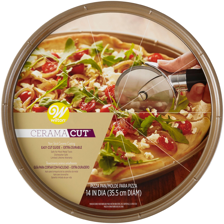 Wilton CeramaCut Non-Stick Pizza Pan, Ceramic-Coated Bakeware 14in
