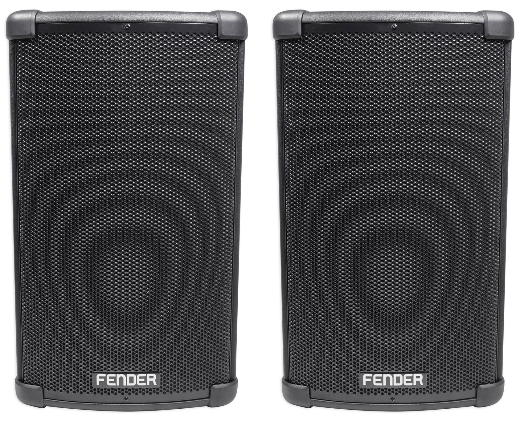 "(2) FENDER FIGHTER 10"" 2200w Powered DJ PA Speakers w  Bluetooth, Wood Enclosure by Fender"
