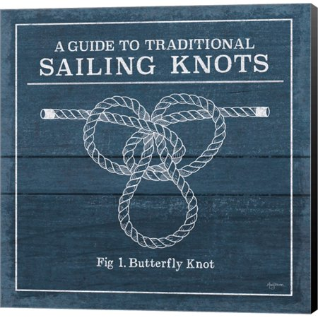 Vintage Sailing Knots II by Mary Urban, Canvas Wall Art (Vintage Knot)