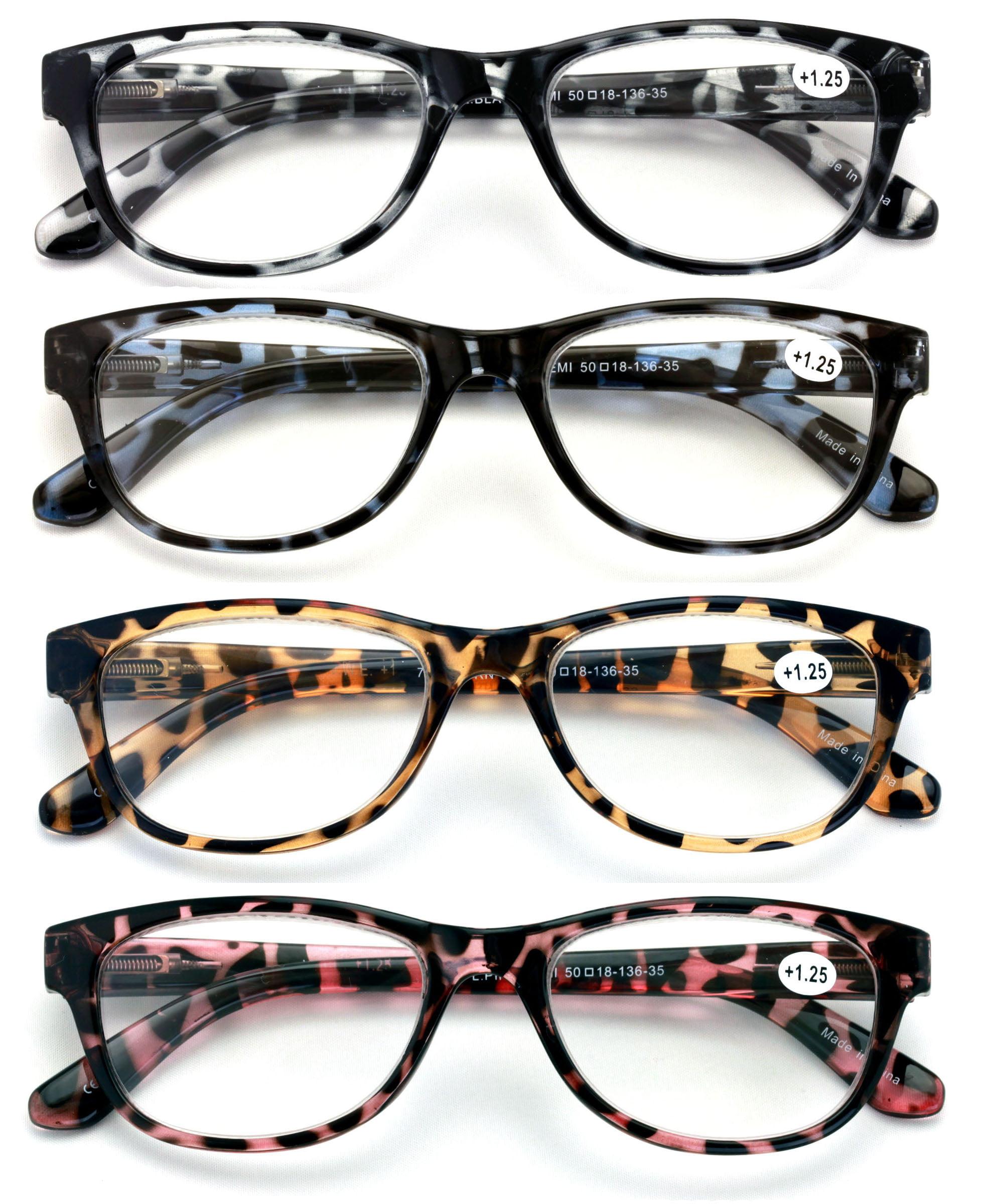 20 Pairs Women Leopard Meow Reading Glasses   Fashion Clear Lens Readers  Demi Tortoise   Walmart.com