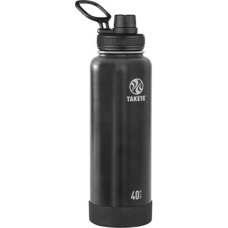 Takeya Actives Stainless Steel Water Bottle w/Spout lid, 40oz Slate