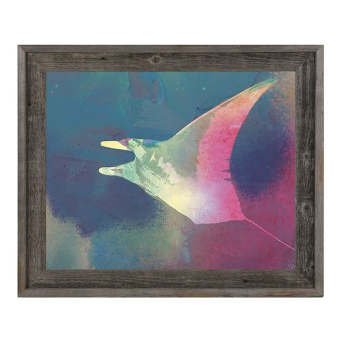 Click Wall Art Cerise Dyed Manta Framed Painting Print on Canvas