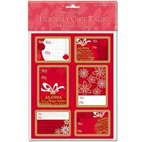 Island Heritage Ornament 18 Pack Adhesive Christmas Gift Tag Labels