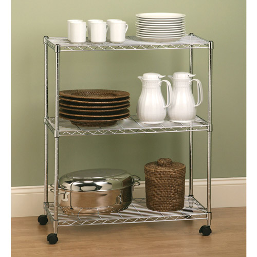Seville Classics 3-Shelf Home-Style Steel Wire Shelving