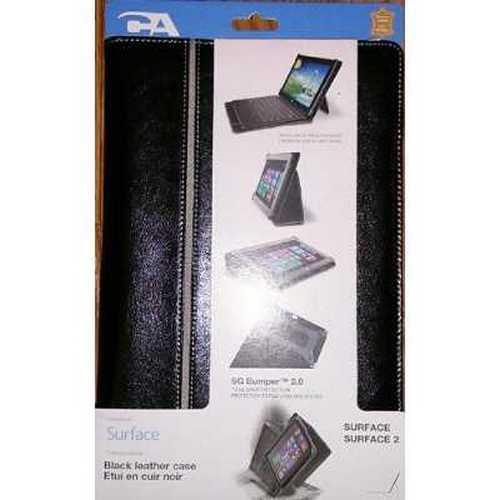Cyber Acoustics Premium Surface RT Leather Case (MS-0050) - Black/Grey