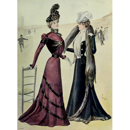 Latest Paris Fashions 1877 Costumes de Course Poster Print by Unknown