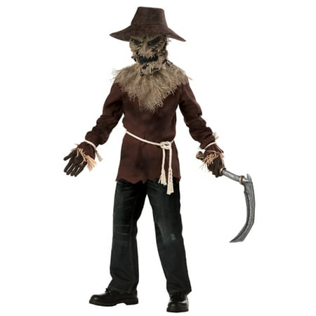 Evil Scarecrow Monster Boys Child Halloween Costume