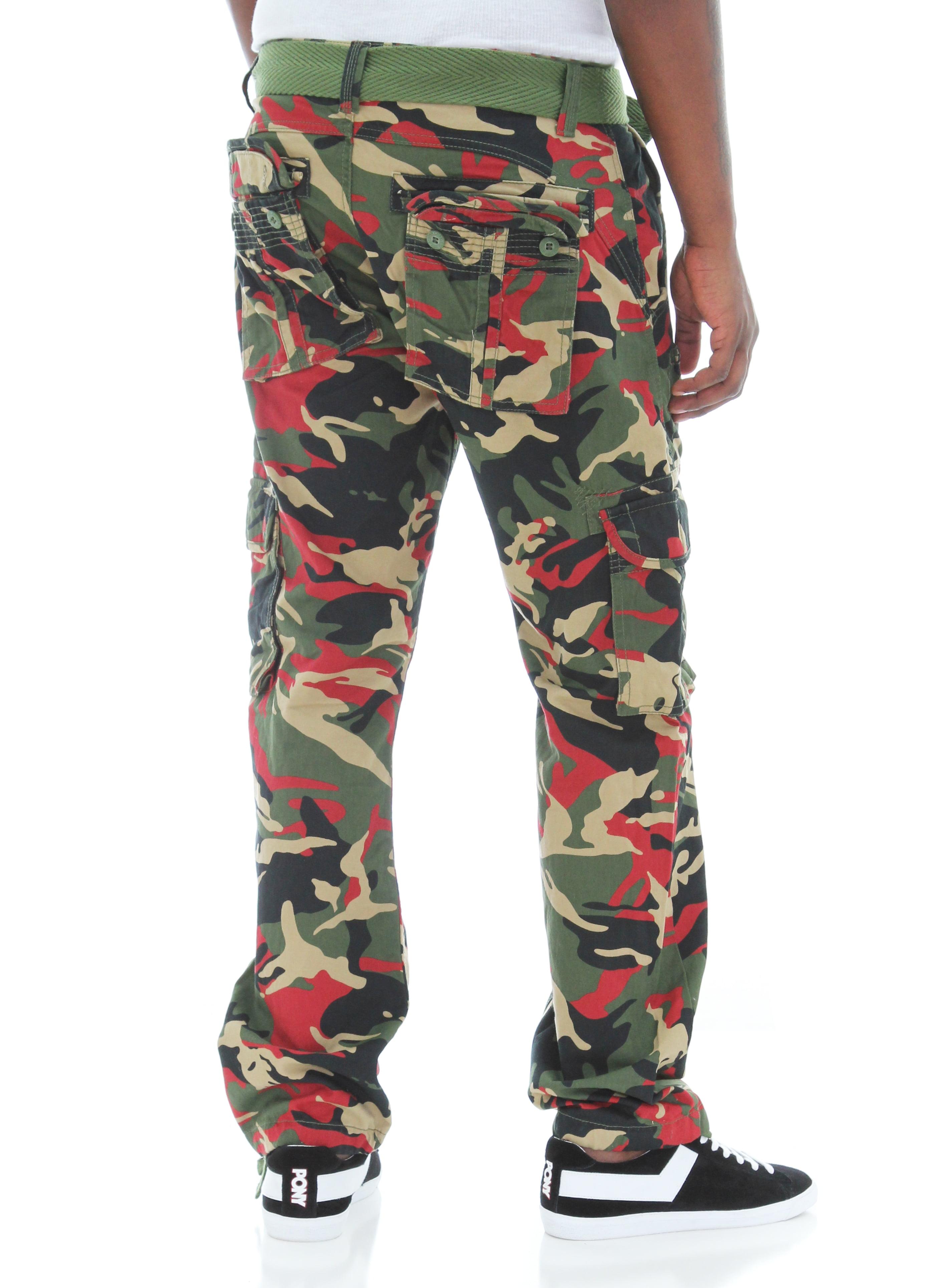 fdbb8022a746 Jordan Craig - Jordan Craig Men s Fashion Camo Heavy Twill Belted Cargo  Pants - Walmart.com