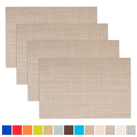 Aspire 4PCS Insulation Placemat, Washable Table - Raffia Table Mats