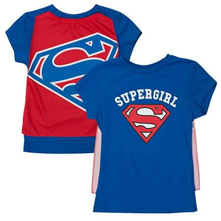T-Shirt - Supergirl Girls Caped Tee - XL Costume Cosplay ts4kuusgl