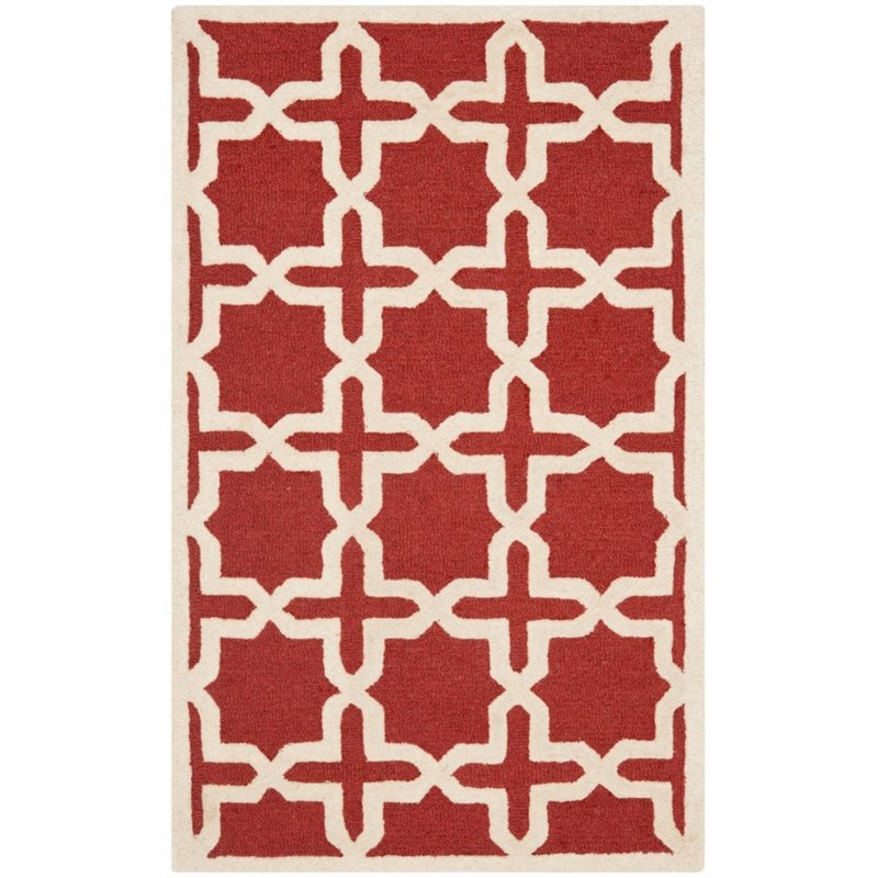 Safavieh Cambridge 3' X 5' Hand Tufted Wool Rug in Rust and Ivory - image 5 de 8