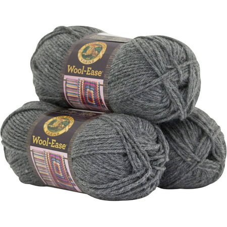 Lion Wool Ease Chunky Yarn (Lion Brand Yarn Wool Ease 3-Pack Classic Yarn Wool Yarn )