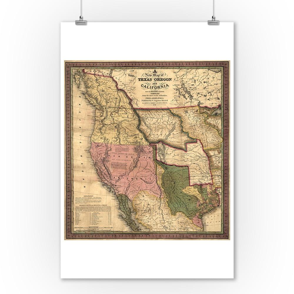texas  oregon  and california