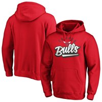 Men's Fanatics Branded Red Chicago Bulls Super Sweep Pullover Hoodie