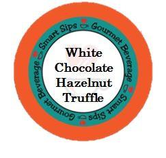 - Smart Sips Coffee White Chocolate Hazelnut Truffle Flavored Coffee Single Serve Cups, 24 Count, Compatible With All Keurig K-cup Machines