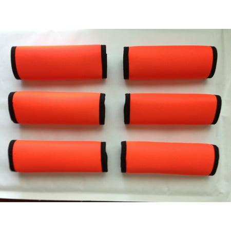 LOOK! Marketing, Inc Super Grabber Neon Orange 6-piece Handle Grip Luggage Spotter Set