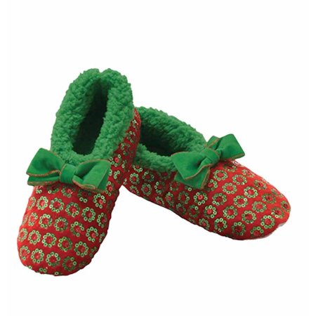 002 Santa (Snoozies - Christmas Sequin - Red with Green -)