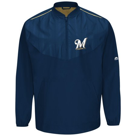 Milwaukee Brewers Majestic MLB Authentic Cool Base On-Field Training Jacket by