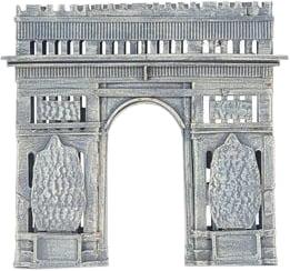 Piggy Bank Arc de Triomphe Paris Vintage Painted Rubber Plug Iron Frame N OM-381 by