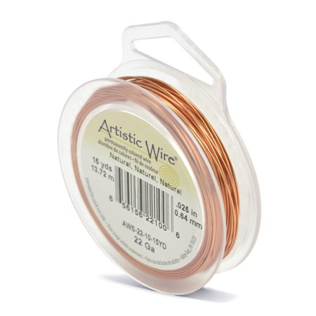 Artistic Wire Jewelry Wire Spools 22 Gauge (15 Yards) Natural Copper