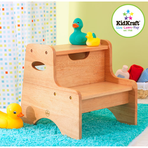 KidKraft Two Step Stool Natural by KidKraft