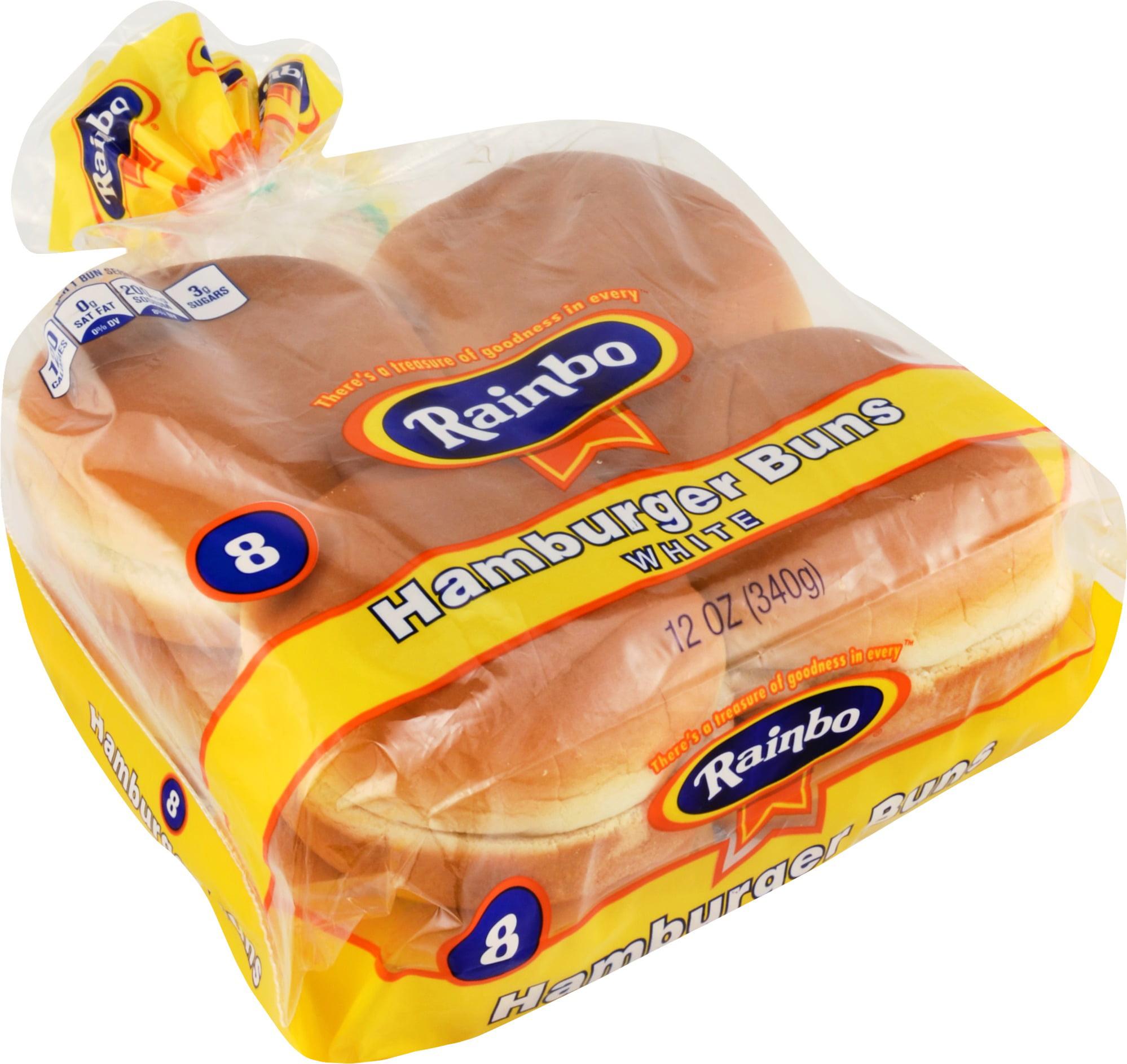 Rainbo Hamburger Buns, 8 count, 12 oz