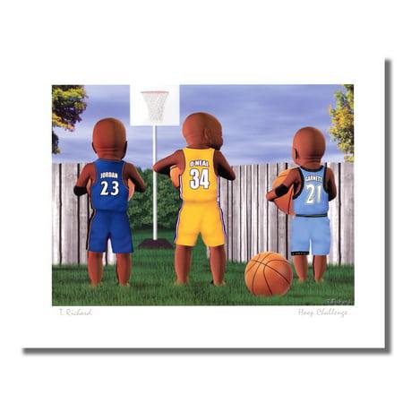 Basketball Hoop Challenge Jordan O'Neal Garnett Wall Picture 8x10 Art Print