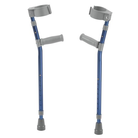 Inspired by Drive Pediatric Forearm Crutches, Large, Knight Blue, Pair Drive Steel Forearm Crutches